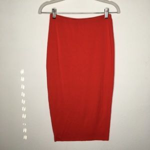 Vince Camuto Red Stretchy Midi Skirt Size XS